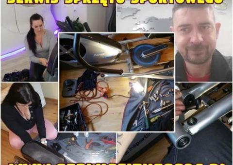 Serwis sprzętu sportowego,fitness,rowery treningowe,bieżnie,orbitreki